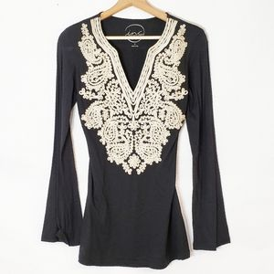 International Concepts Embroidered Tunic Sz Small